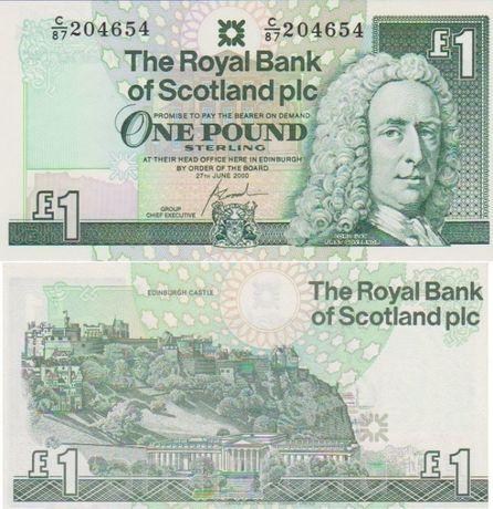Шотландия 1 Фунт.