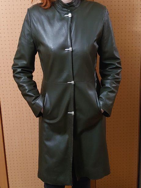 Кожаная куртка плащ пальто