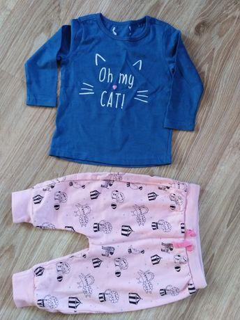 Spodnie dresowe 51015, bluzka smyk dla dziewczynki 74