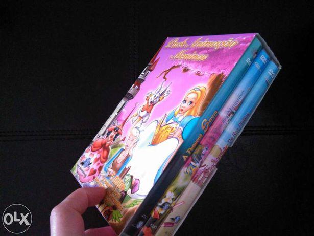 3 DVDs histórias infantis