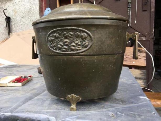 Zabytkowy( 1914 r.) Chłodnik, cooler, pojemnik mosiężny