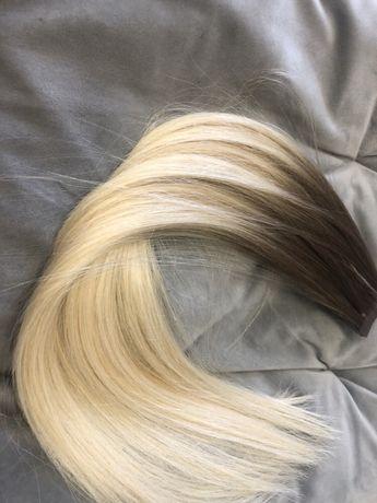 Włosy dziewicze tape on ombre 55cm 102g