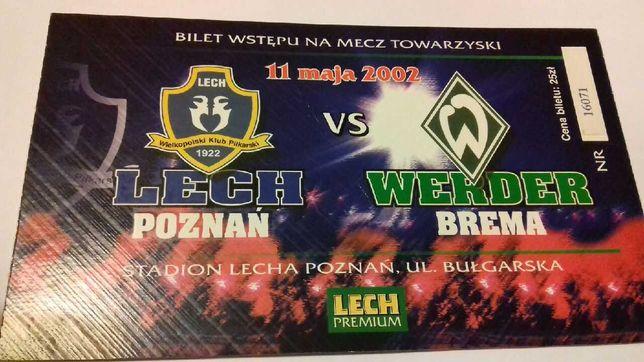 Bilet z meczu Lech Poznań - Werder Brema