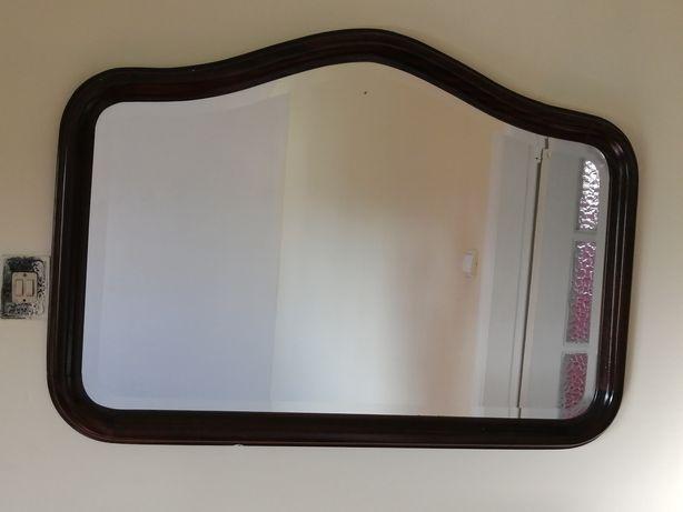 Espelho em Nogueira para  decorar.