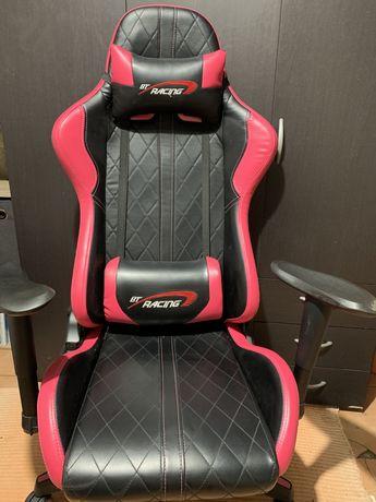 Cadeira gaming BT Racing rosa e preta