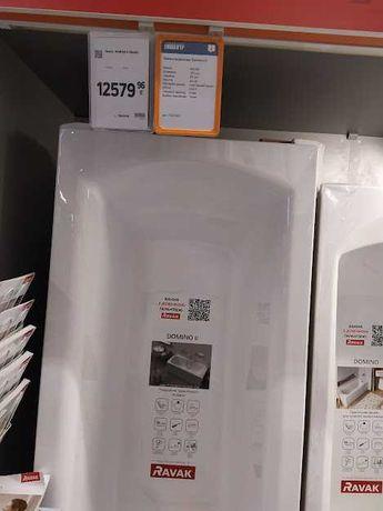 Продам новую ванную Ravak domino 2 (180/80) по скидке  8700+ комплект