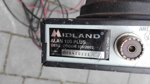 Cb radio midland wraz z anteną