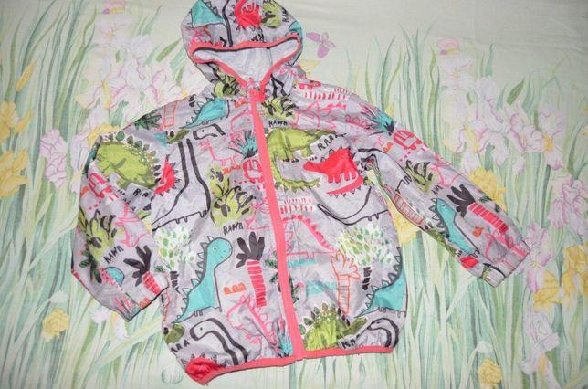 чудесная куртка ветровка 4-5 лет