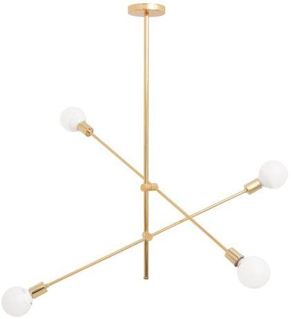 Lampa sufitowa żyrandol APP479 metal złota loft