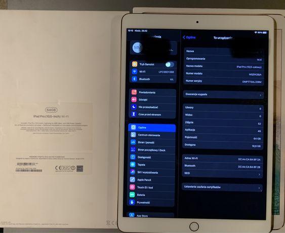 Apple iPad Pro 64GB 10.5 Wi-Fi złoty GOLD A1701 MQDX2B/A