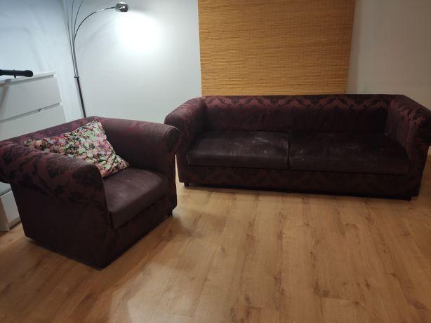 Komplet wypoczynkowy sofa i fotel