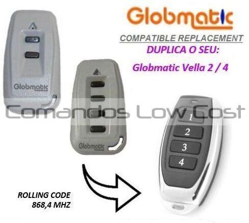 Comando compatível com GLOBMATIC VELLA 2 / 4