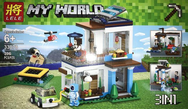 Klocki Lele My World Nowoczesny Dom 396 elementów