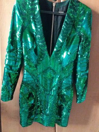 Платье Balmain в пайетках
