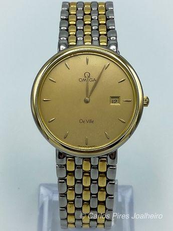 Relógio Omega De Ville Plaqueado Ouro
