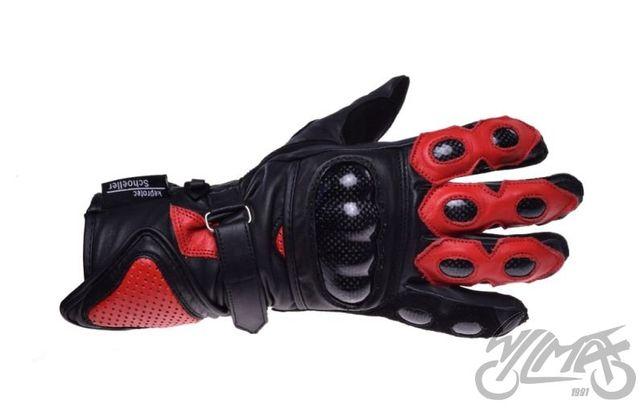 Rękawice Rękawiczki Czarno Czerwone KEWLAR IN Motion S M