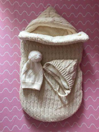 Зимний конверт для выписки новорождённого