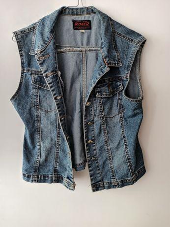 Katana kamizelka dżinsowa jeansowa niebieska S 36