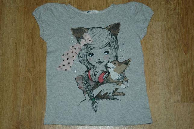 H&M bluzka koszulka T-shirt rozm.122-128