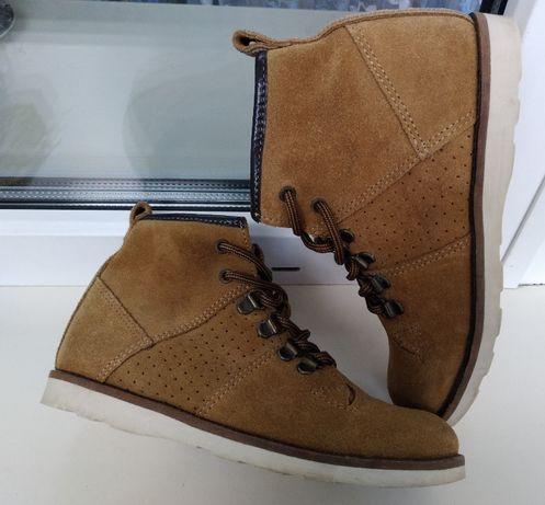 Замшевые демисезонные ботинки next р. 34 ( 2 ) стелька 22.5 см