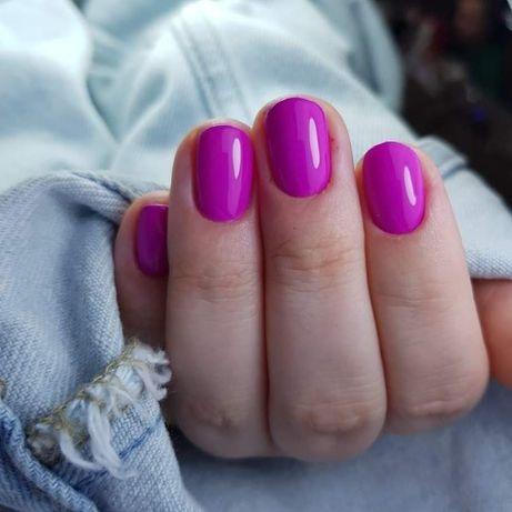 Manicure hybrydowy, hybryda, paznokcie hybrydowe, przedłużenie żelem.