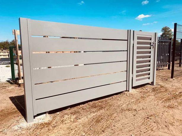 Ogrodzenia sztachetowe aluminiowe Alfen - frontowe/ palisadowe