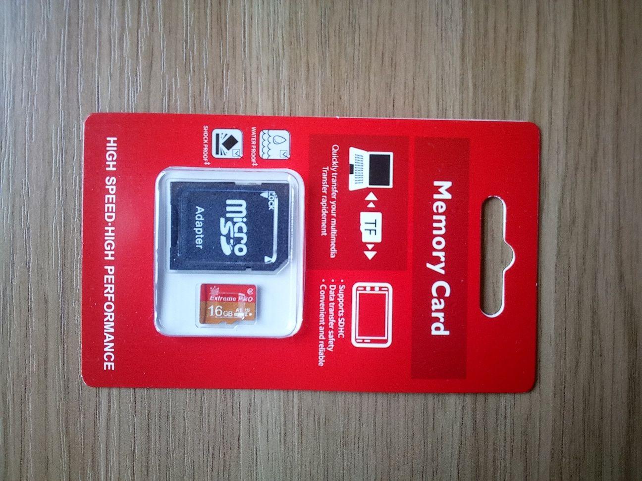 Новая карта памяти  micro SD - 16 gb.