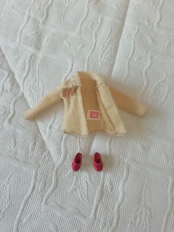 Casaco e sapatos Barbie originais