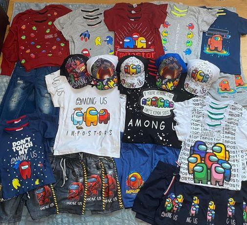 Летняя одежда Амонг ас (Among us) футболка, шорты, костюм,кепка