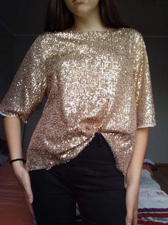Złota cekinowa bluzka