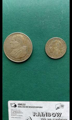 Dwie stare srebne monety. PRL i II Rp