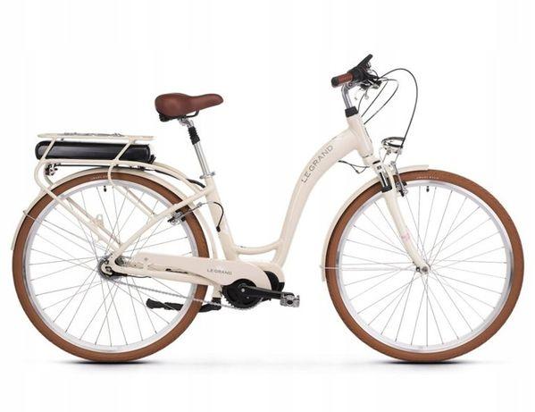 Rower Elektryczny Le Grand eLille 3 beż/bia Rozmiary S, M, L AMSBIKE