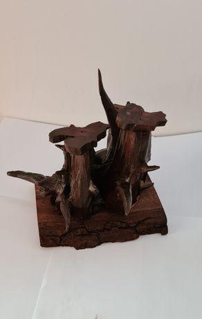 Drewniane świeczniki