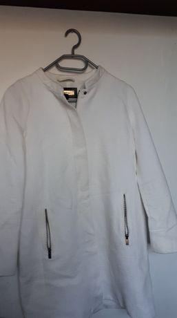 Płaszcz biały MANGO - dostawa GRATIS