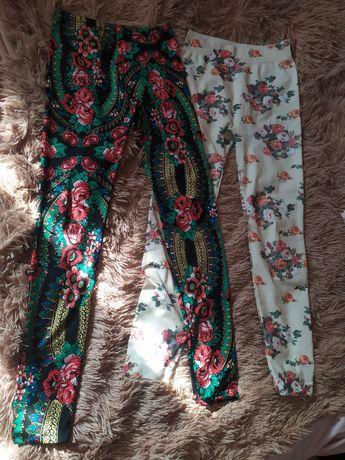 Лосины 42-44 штаны с красивым принтом