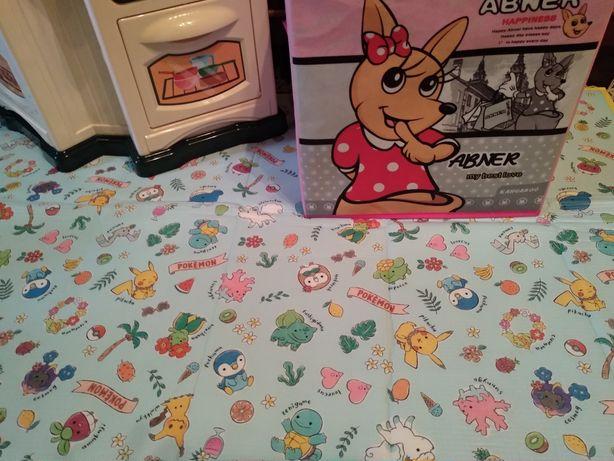 Детский термоковрик 120*70. Беби пол коврик для игр.