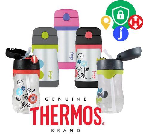Стальной питьевой с трубочкой носиком пищевой термос Thermos Foogo и д