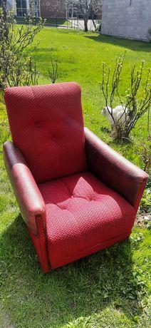 Fotele dwa z lat 80 bordo