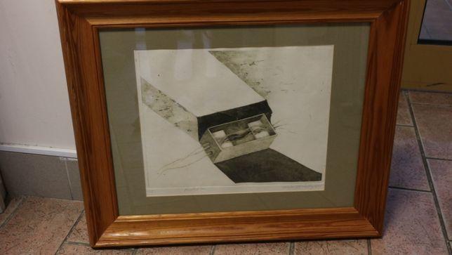 """Obraz Feliks Chudzyński """"Pudełko"""" 1987"""