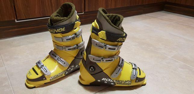 Buty narciarskie Rossignol 44 skorupa 334mm na narty zolte