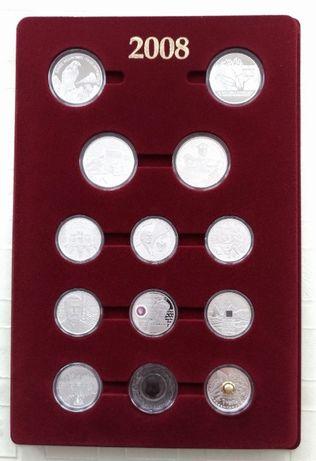 Kolekcja srebrnych monet rocznik 2008