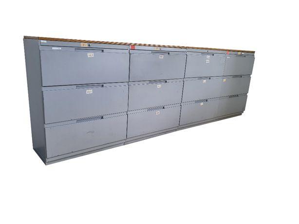 Zestaw szaf z szufladami 324 cm stół warsztatowy 440 kg!!! zabudowa