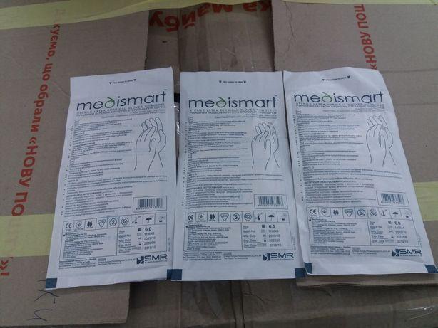 Перчатки хирургические medismart размер 6 и 7.5