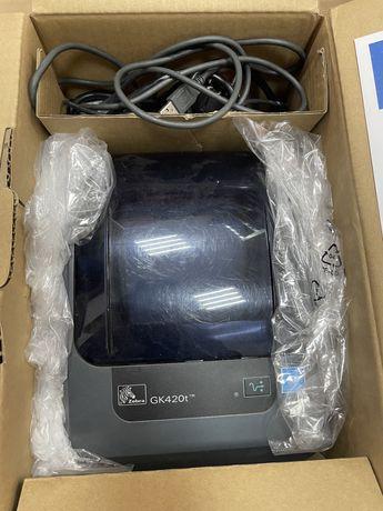 Термопринтер Zebra GK420t полный комплект