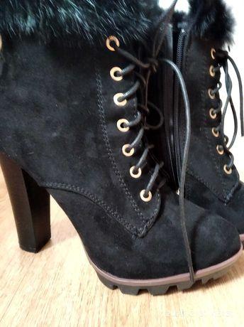 Ботинки замшевые димесезонные