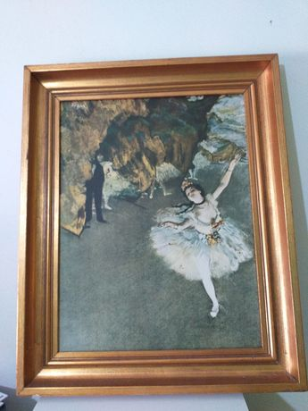 Quadro antigo The Star (dançarina no palco)