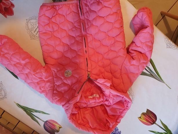 Kurtka r.80 różowa jesien/zima dziewczynka