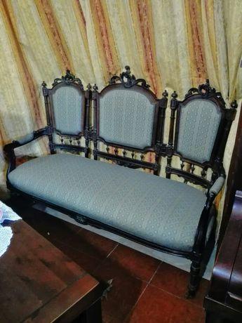 Terno de sofás vintage em pau santo anos 30