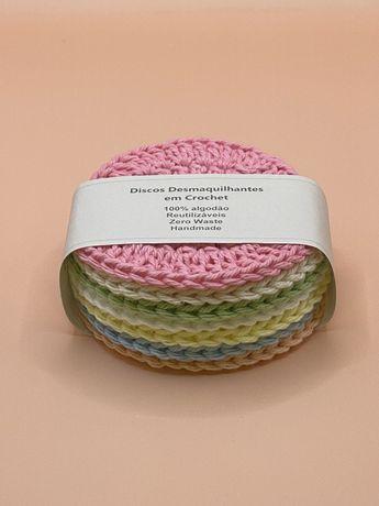 Discos desmaquilhantes em Crochet - Ecopads