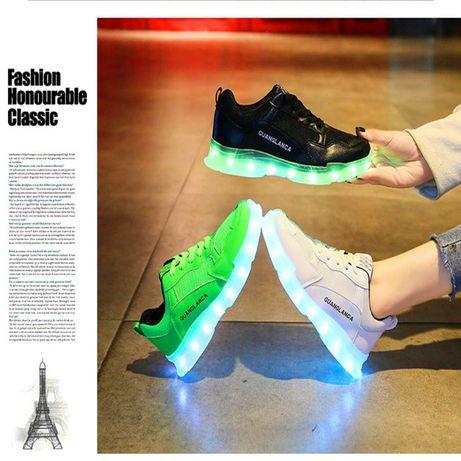 Кроссовки светящиеся с LED-подсветкой USB зарядкой р.35-40